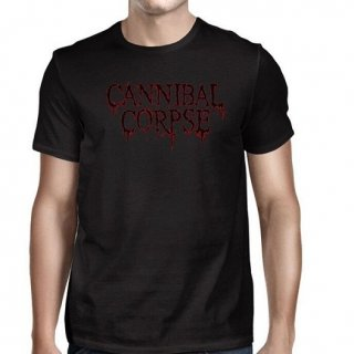 CANNIBAL CORPSE Blk Red Logo 2016 Tour Dates, Tシャツ