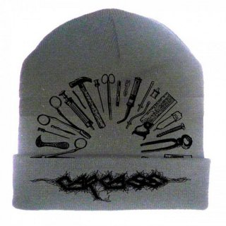 CARCASS Tools Embroidered Logo Light Grey, ニットキャップ