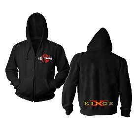KINGS X Pocket Print Logo, Zip-Upパーカー