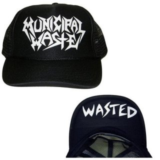 MUNICIPAL WASTE Logo Wasted, キャップ