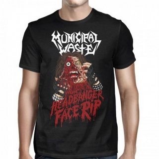 MUNICIPAL WASTE Headbanger Face Rip, Tシャツ
