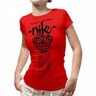 NILE Scarab Mummy RED, レディースTシャツ