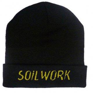 SOILWORK Embroidered Gold Logo 12in, ニットキャップ