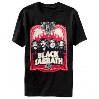 BLACK SABBATH Red Flames, Tシャツ