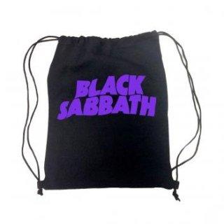 BLACK SABBATH Purple Logo, ドローストリングバッグ