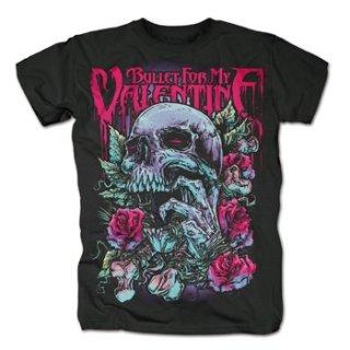 BULLET FOR MY VALENTINE Skull Rd, Tシャツ