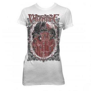 BULLET FOR MY VALENTINE Skull House, レディースTシャツ
