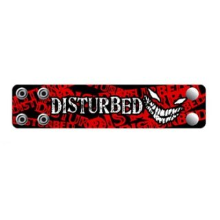 DISTURBED Crazy Face, レザーリストバンド