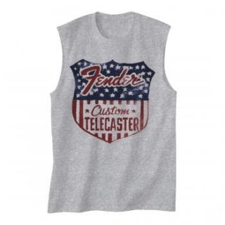 FENDER Stars N Stripes Shield, ノースリーブTシャツ(メンズ)