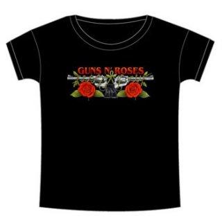 GUNS N' ROSES Roses & Pistols, レディースTシャツ