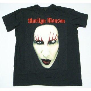 MARILYN MANSON Big Face Red Lids, Tシャツ