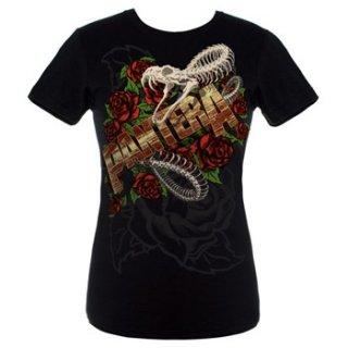 PANTERA Rattler Skull, レディースTシャツ