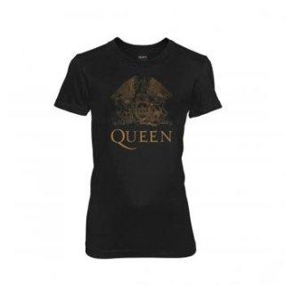 QUEEN Gold Logo Wmns, レディースTシャツ