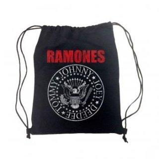 RAMONES Red Logo Seal, ドローストリングバッグ