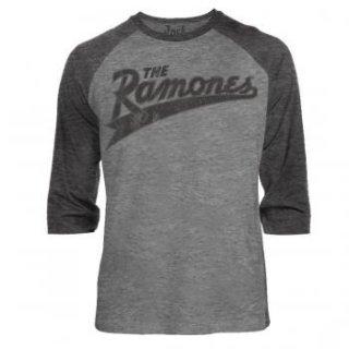 RAMONES Baseball Logo, ラグラン七分袖シャツ