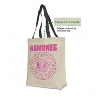 RAMONES Pink Seal Canvas, トートバッグ