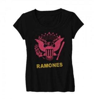 RAMONES Pink Eagle, レディースTシャツ