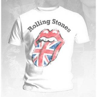 THE ROLLING STONES Distressed Union Jack, Tシャツ