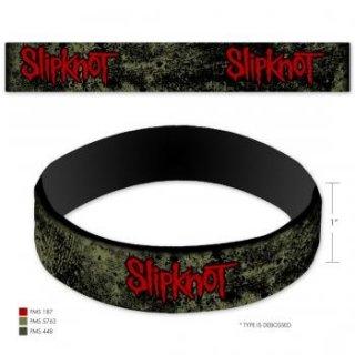 SLIPKNOT Distressed Logo, ラバーリストバンド