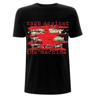 RAGE AGAINST THE MACHINE Newspaper Star, Tシャツ