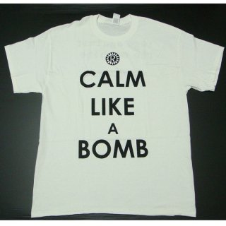 RAGE AGAINST THE MACHINE Calm Like A Bomb White, Tシャツ