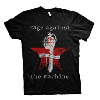 RAGE AGAINST THE MACHINE Bulls On Parade Mic, Tシャツ