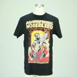AGORAPHOBIC NOSEBLEED Leatherface, Tシャツ