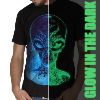 DEEDS OF FLESH Alien Head, Tシャツ