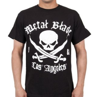 METAL BLADE RECORDS Pirate Logo White on Black, Tシャツ