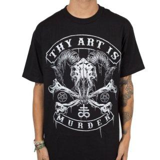 THY ART IS MURDER Baphomet Skull, Tシャツ