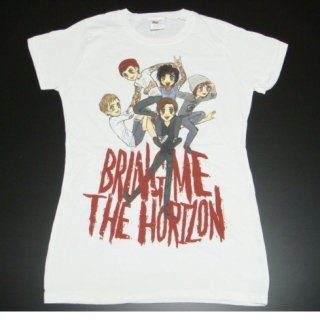 BRING ME THE HORIZON Sketch Pile WHT, レディースTシャツ