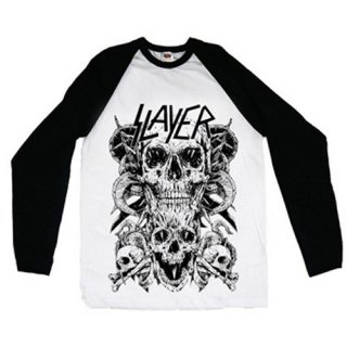 SLAYER Skulls, ラグランロングTシャツ