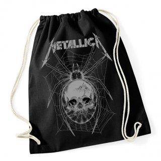 METALLICA Grey Spider Black, ドローストリングバッグ