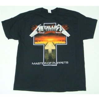METALLICA Master Of Puppets Cross Black, Tシャツ