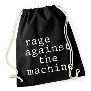 RAGE AGAINST THE MACHINE Stack Logo, ドローストリングバッグ
