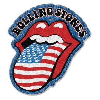 THE ROLLING STONES Us Tongue With Iron On Finish, パッチ