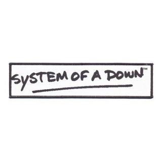 SYSTEM OF A DOWN Logo Black, パッチ