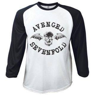 AVENGED SEVENFOLD Classic Death Bat, ラグランロングTシャツ