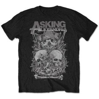 ASKING ALEXANDRIA Skull Stack, Tシャツ