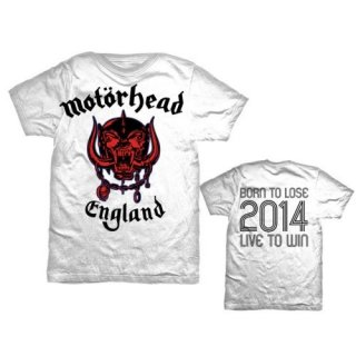 MOTORHEAD World Cup England with Back Printing, Tシャツ