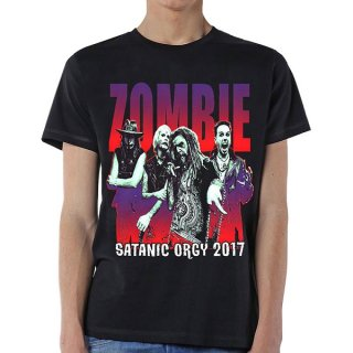 ROB ZOMBIE Satanic Orgy Tour 2017 (with Back Print), Tシャツ