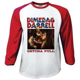 DIMEBAG DARRELL Getcha Pull, ラグラン七分袖シャツ