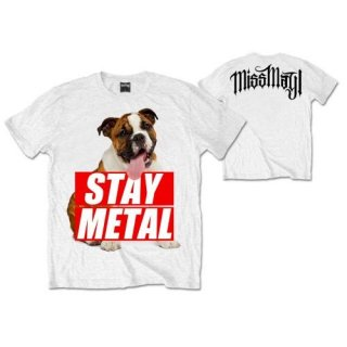 MISS MAY I Bull Dog With Back Printing, Tシャツ