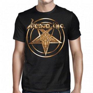 VENOM INC Pentagram Gold Logo, Tシャツ
