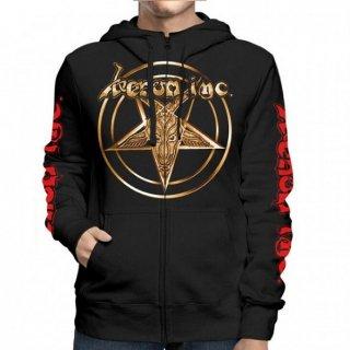 VENOM INC Gold Logo/I Kneel To No God, Zip-Upパーカー