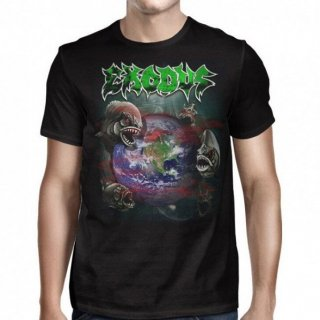 EXODUS Piranha World North America '17 , Tシャツ