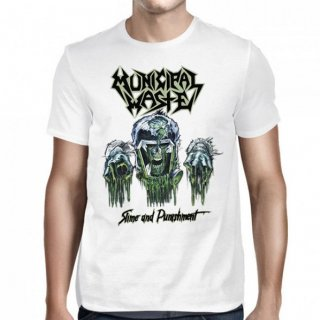 MUNICIPAL WASTE Slime and Punishment White, Tシャツ