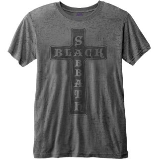 BLACK SABBATH Vintage Cross (Burn Out)/ charcoal grey, Tシャツ