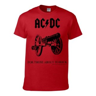 AC/DC For Those About To Rock/red, Tシャツ
