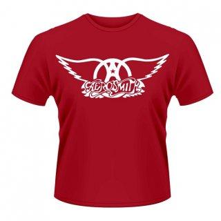 AEROSMITH Logo/red, Tシャツ